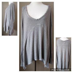 Free People Gray Scoop Neck Sweater Ladies Medium